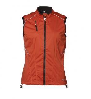 Geyser Woman Soft Shell Running Vest XXL Orange